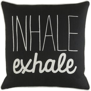 Yahya Inhale/ Exhale Cotton Throw Pillow