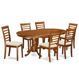 Germantown 7 Piece Extendable Dining Set DarHome Co