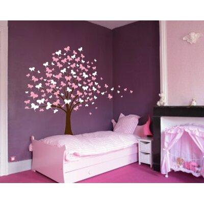 innovative stencils butterfly cherry blossom tree baby nursery wall