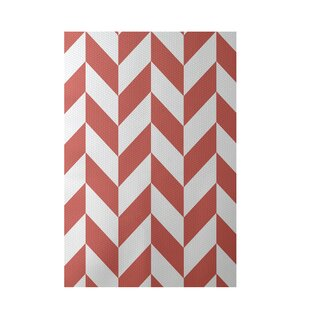 Geometric Coral Indoor/Outdoor Area Rug By e by design