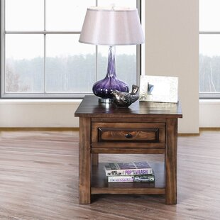 Jansen Farmhouse End Table with Storage by Alcott Hill