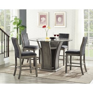 Christian 5 Piece Counter Height Dining Set by Ivy Bronx