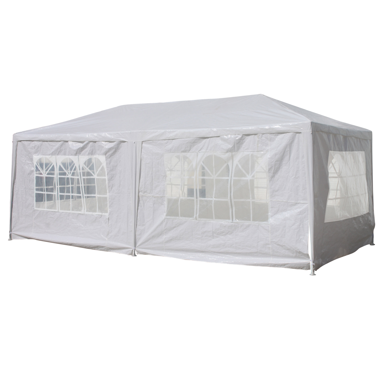 ALEKO Shelter Canopy Picnic Gazebo Party Tent Carport 20 x 10 Ft White