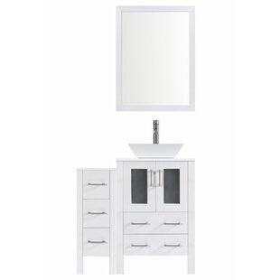 Modern 42 Single Bathroom Vanity Set with Mirror by LessCare