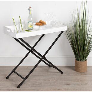 Roderica Wood and Metal Tray Table by Gracie Oaks