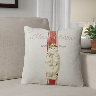 Marineth Snow Man Throw Pillow