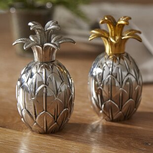 Lacy Pineapple Salt & Pepper Shakers