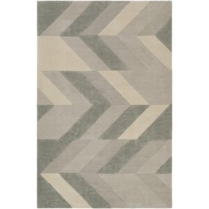 Melitta Hand-Tufted Light Gray/Sea Foam Area Rug