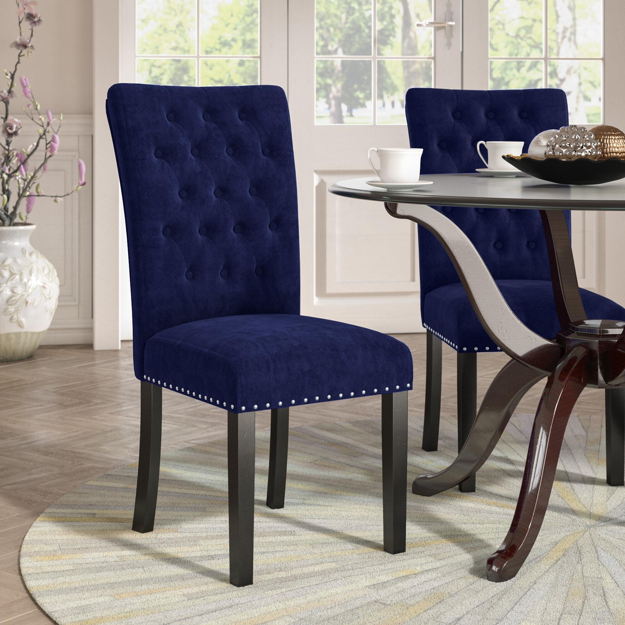 Willa Arlo Interiors Erling Velvet Upholstered Dining Chair Reviews Wayfair