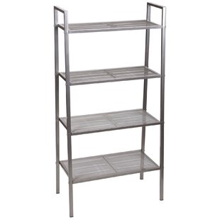 Free-Standing Four Shelf Etagere Bookcase Household Essentials