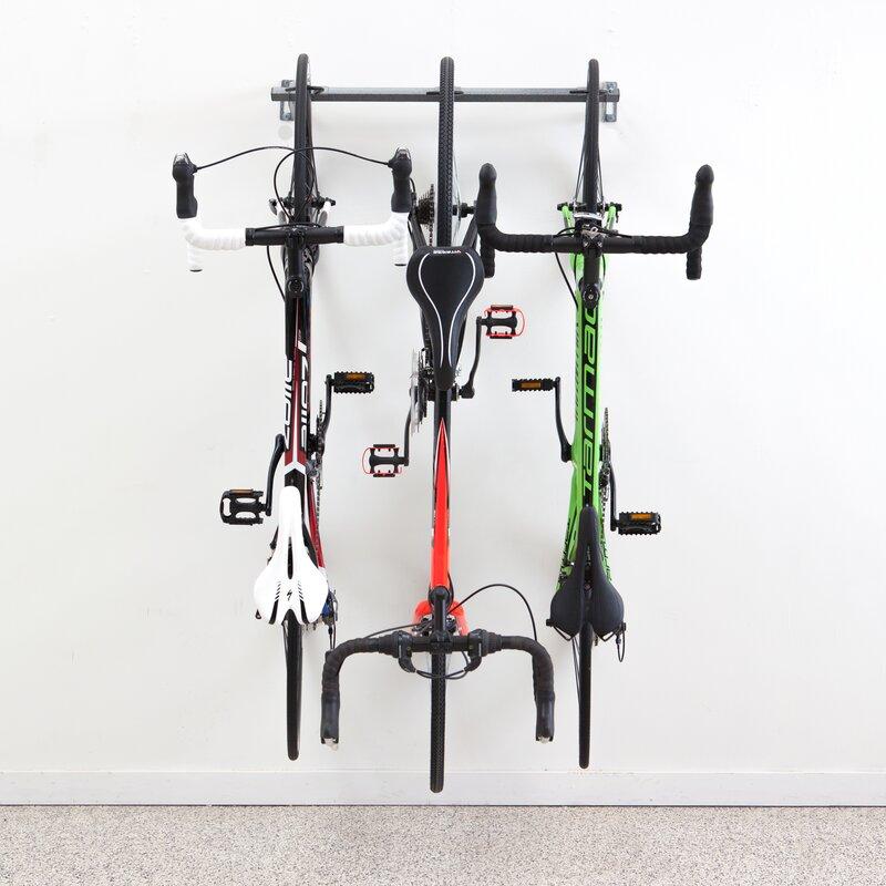 3 Bike Storage Wall Mounted Bike Rack  sc 1 st  Wayfair & Monkey Bar 3 Bike Storage Wall Mounted Bike Rack u0026 Reviews | Wayfair