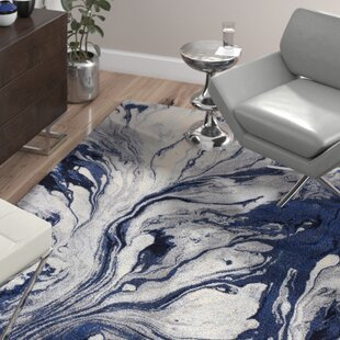 Kaia Blue Area Rug by Wade Logan