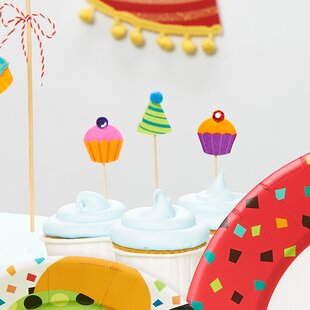 12 Piece Cupcakes and Hats Party Picks Set (Set of 12)