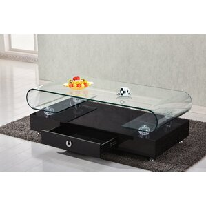 Gregory Glass Top Coffee Table by Orren Ellis