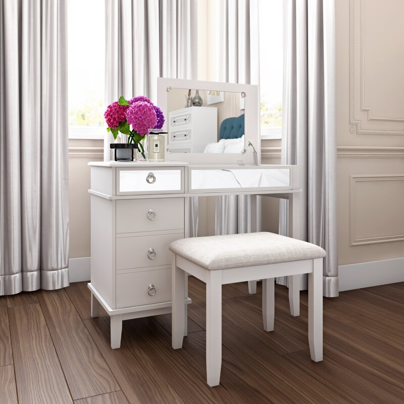 Ritch Vanity Set With Mirror