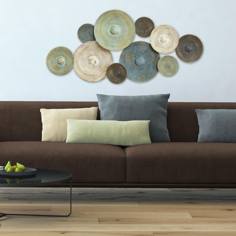World Menagerie Ashevile Textured Plates Wall Decor Reviews Wayfair