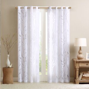 Givens Wildlife Sheer Grommet Single Curtain Panel
