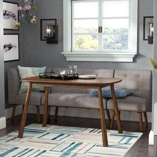 Magnificent Bucci 4 Piece Breakfast Nook Dining Set Spiritservingveterans Wood Chair Design Ideas Spiritservingveteransorg
