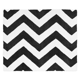 Comparison Chevron Black and White Rug By Sweet Jojo Designs