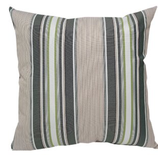 Wurthing Outdoor Striped Throw Pillow (Set of 2)