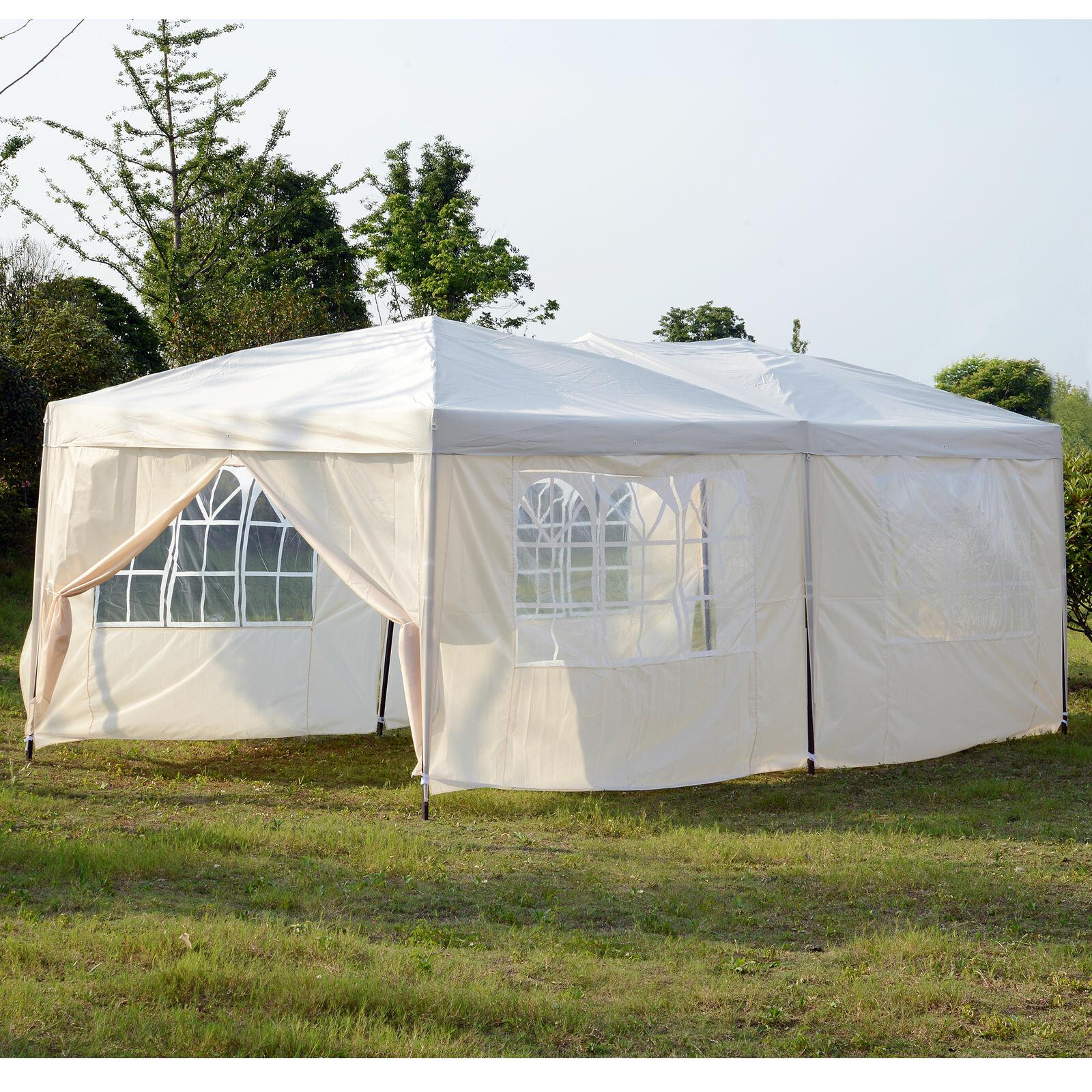 Freeport Park Alvin 20 Ft W X 10 Ft D Steel Party Tent Reviews Wayfair