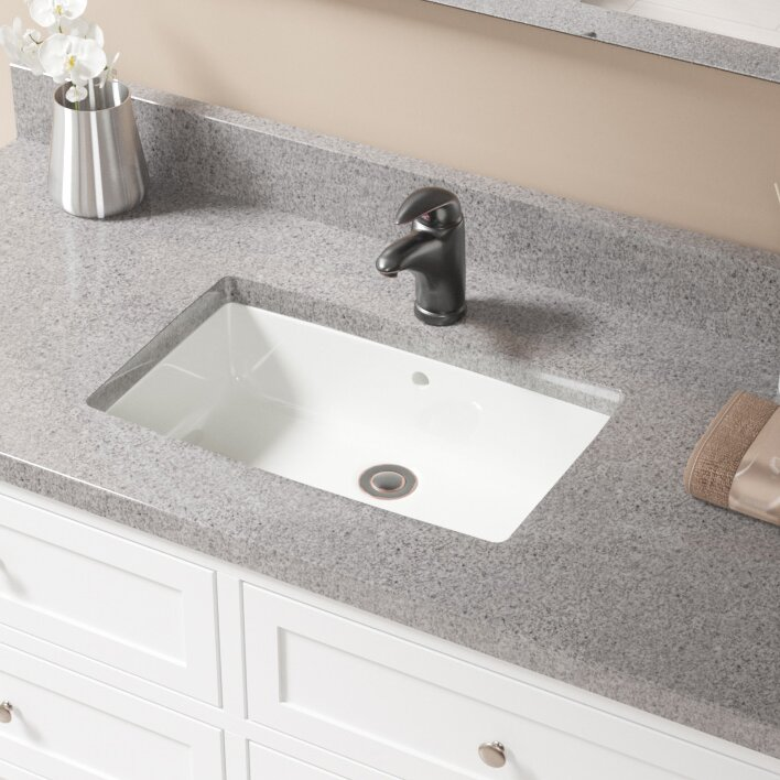 Undermount Rectangular Bathroom Sink mrdirect porcelain rectangular undermount bathroom sink with