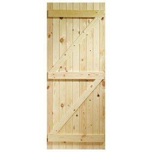 Unfinished Wood Slab External Door