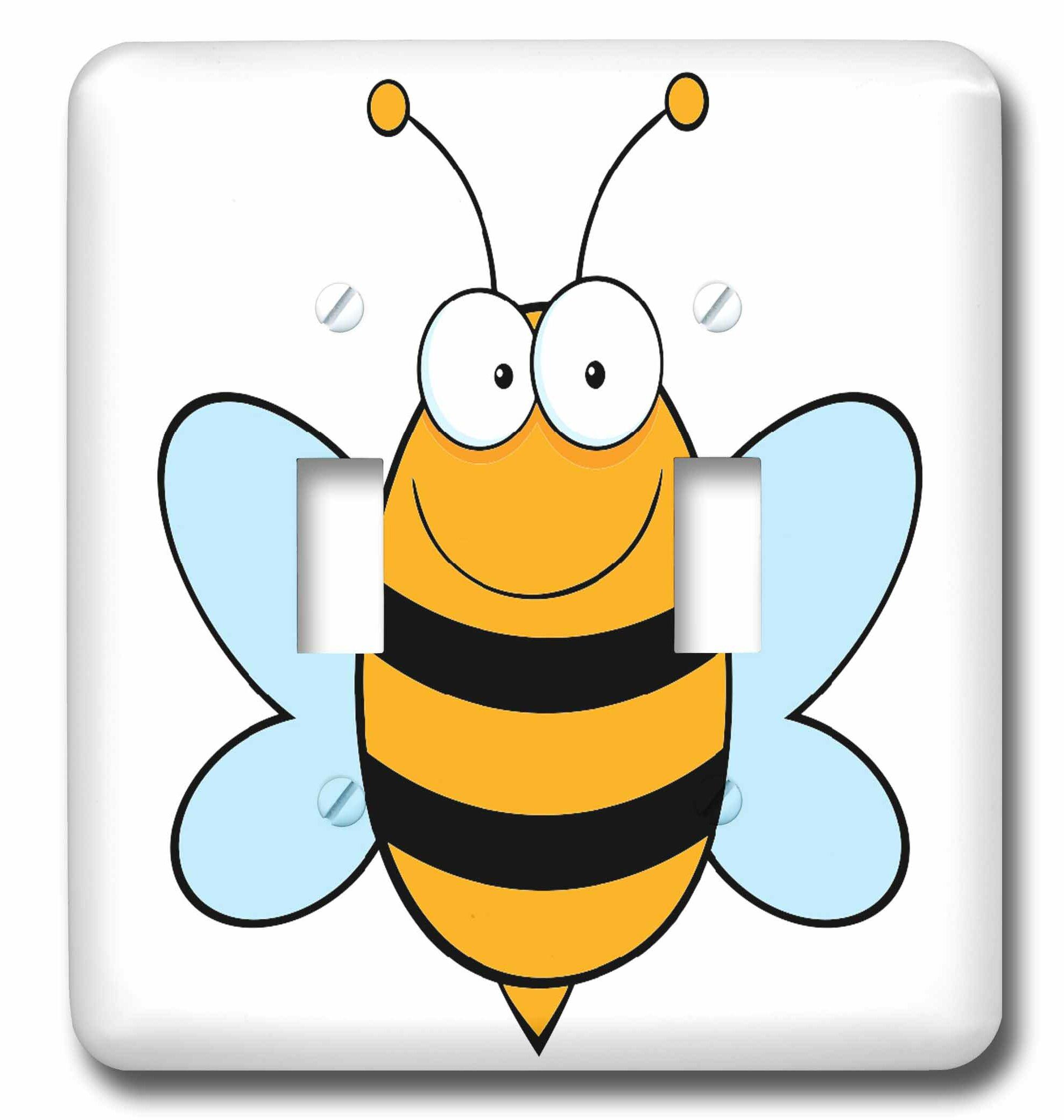 3drose Happy Bumble Bee Goofy Cartoon 2 Gang Toggle Light Switch Wall Plate Wayfair