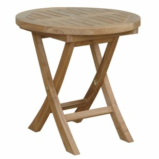 Montage Folding Teak Side Table by Anderson Teak Great Reviews
