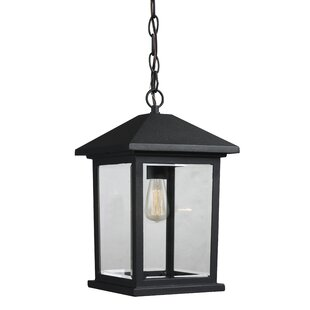 Check Prices Leroy Contemporary 1-Light Outdoor Hanging Lantern By 17 Stories