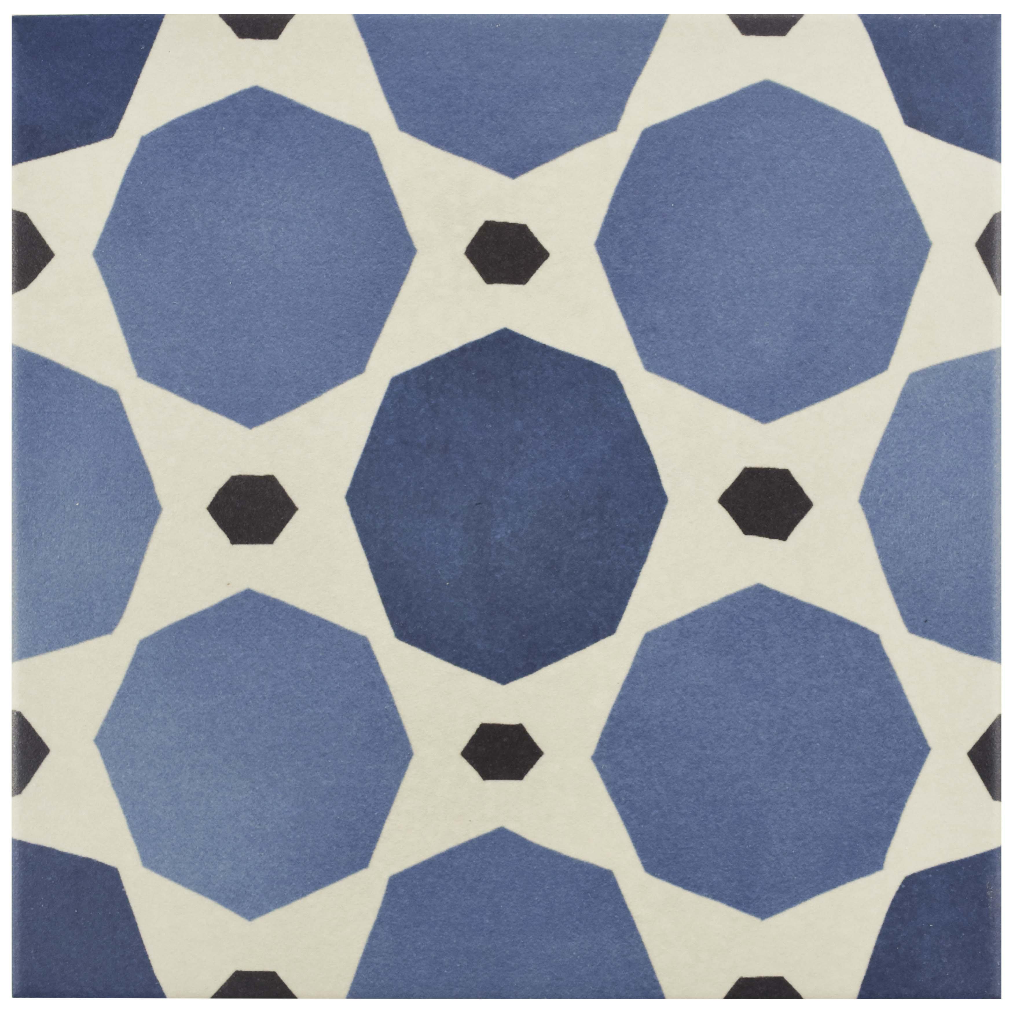 EliteTile SAMPLE - Grotta Porcelain Field Tile in Blue & Reviews ...