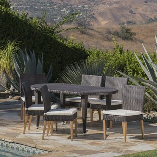 Sohn Outdoor 7 Piece Dining Set with Cushions