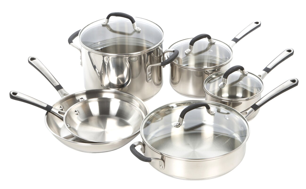 Calphalon Simply Stainless Steel 10 Piece Cookware Set & Reviews ...