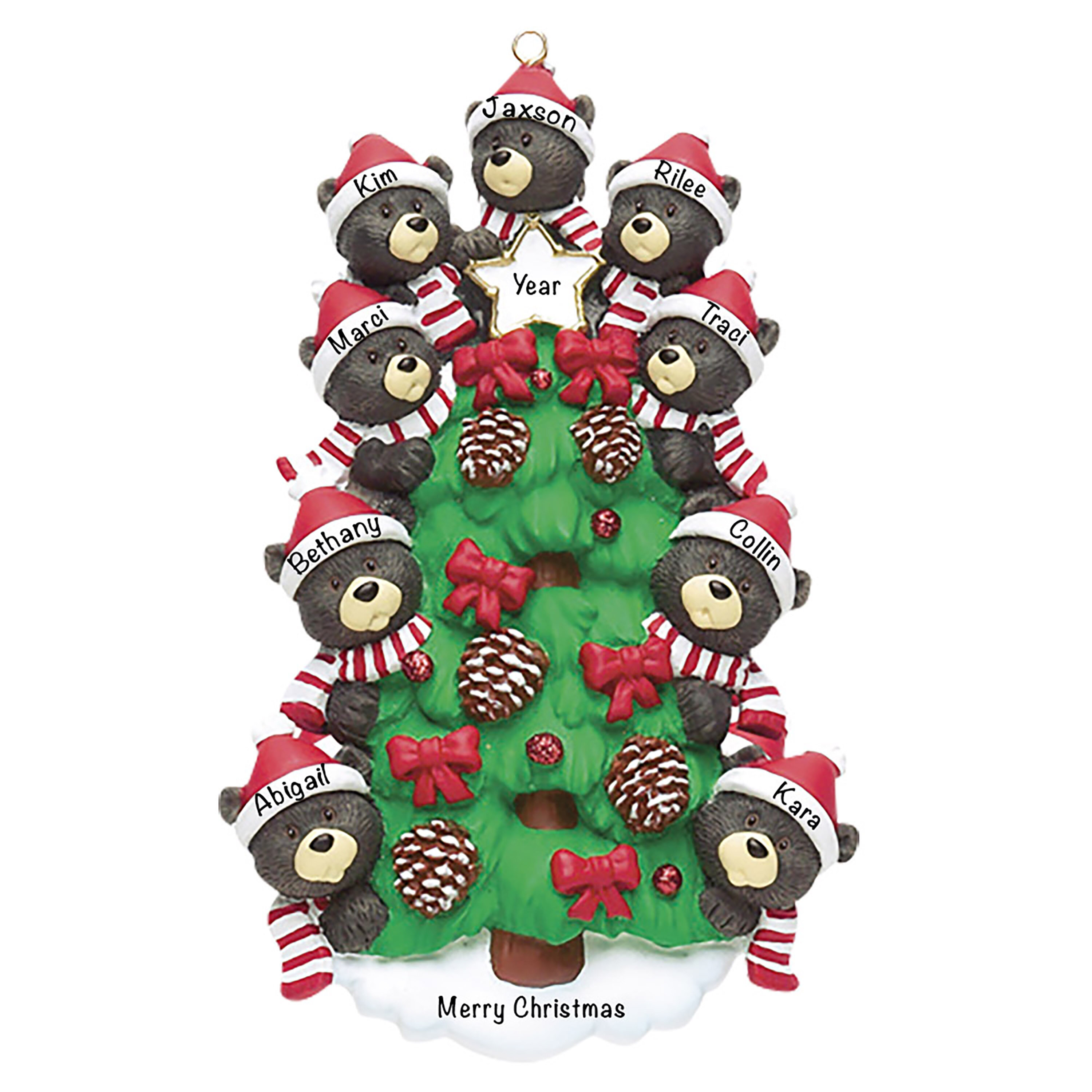 The Holiday Aisle Bear Tree Family Hanging Figurine Ornament Wayfair