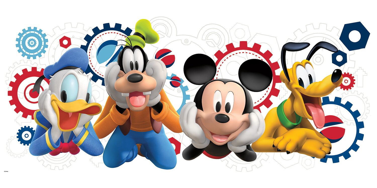 Mickey And Friends Mickey Mouse Clubhouse Capers Giant Wall Decal Part 64