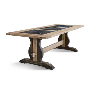 Genovese Solid Wood Dining Table Gracie Oaks