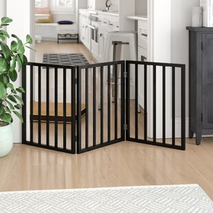 Boswick Freestanding Wooden Pet Gate by Tucker Murphy Pet