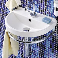 """Bathroom Sinks Wall Mount whitehaus collection china 17.3"""" wall mount bathroom sink with"""