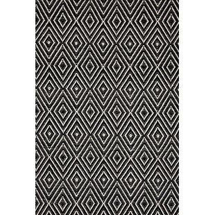 Hand Woven Black Indoor Outdoor Area Rug