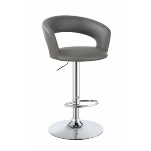 Wuest One Piece Adjustable Height Swivel Bar Stool Orren Ellis