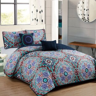 Binette 5 Piece Reversible Quilt Set