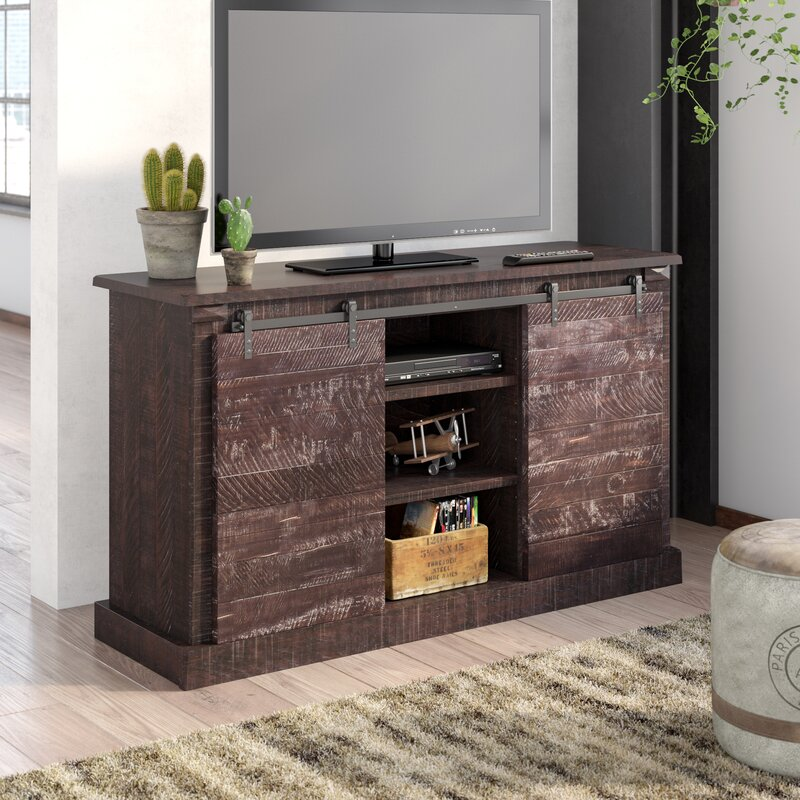 """17 Stories Benefield TV Stand for TVs up to 65""""  Color: Antique Black"""