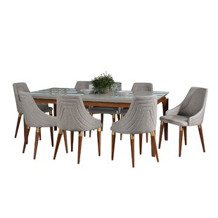 Tatro 9 Piece Solid Wood Dining Set Union Rustic