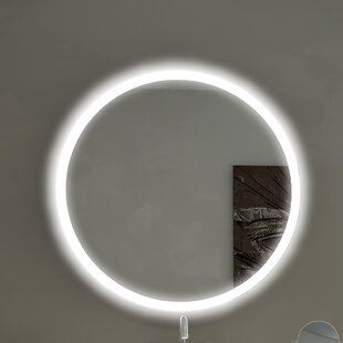 Shop For Round Backlit Bathroom / Vanity Wall Mirror ByParis Mirror
