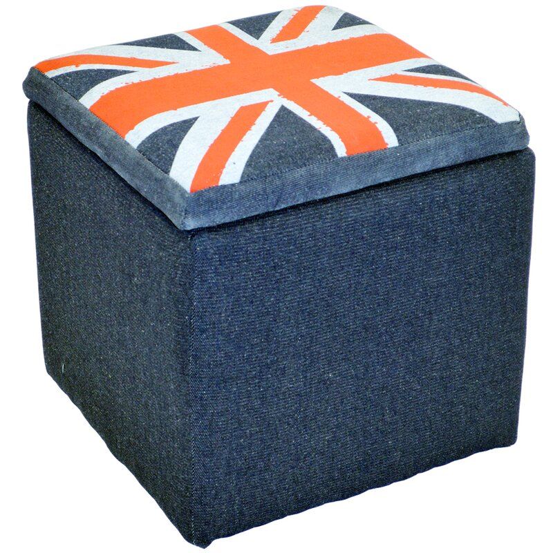 Fantastic House Additions Union Jack Flag Storage Ottoman | Wayfair.co.uk JM53