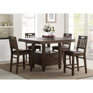 Rodriguez 5 Piece Pub Table Set Union Rustic