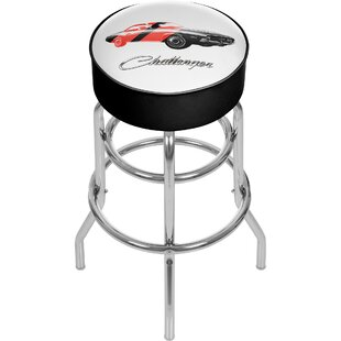 Dodge Challenger 31 Swivel Bar Stool Trademark Global