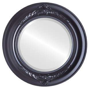 Charlton Home Wokingham Framed Round Accent Mirror