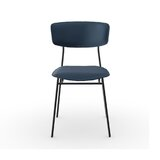 Fifties Leather Upholstered Side Chair by Calligaris