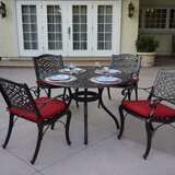 Appleby 5 Piece Dining Set with Cushions